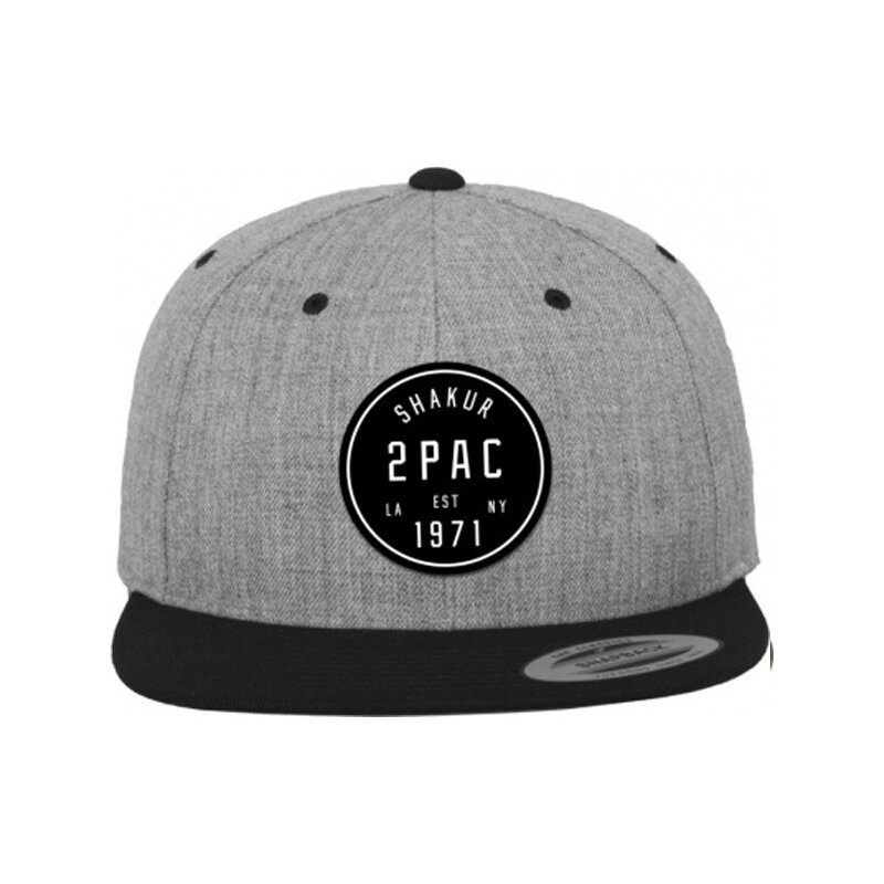 2 Pac Shakur - Logo - Snapback - heather grey