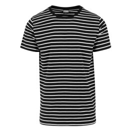 Urban Classics - TB1571 - Striped Tee - black/white
