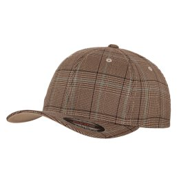 Flexfit - Glen Check - brown/khaki
