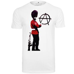 Banksy - Anarchy - Tee (MC094) - white