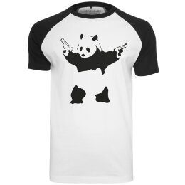 Banksy - MC092 - Panda - Raglan Tee - white/black