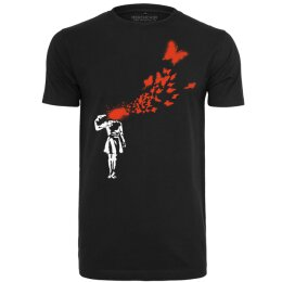 Banksy - Butterfly - MC091 - Tee - black