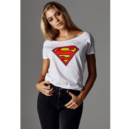 Superman - Ladies - Logo - Tee - white