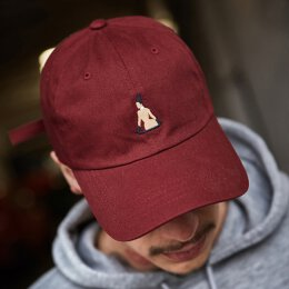 Turn Up - Broke Dad Cap - maroon - osfa