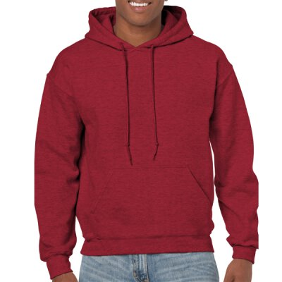 Gildan - 18500 Unisex Heavy Blend Hooded Sweat - antique cherry red