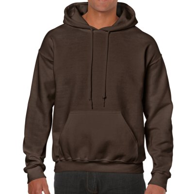 Gildan - 18500 Unisex Heavy Blend Hooded Sweat - dark chocolate