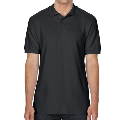 Gildan - 85800 Premium Cotton Double Piqué Polo Shirt - black