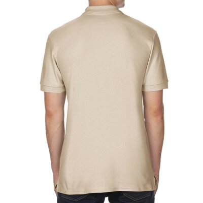 Gildan - 85800 Premium Cotton Double Piqué Polo Shirt - sand