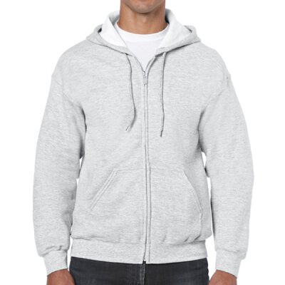 Gildan - 18600 Unisex Heavy Blend Zip Hooded Sweatshirt - ash grey