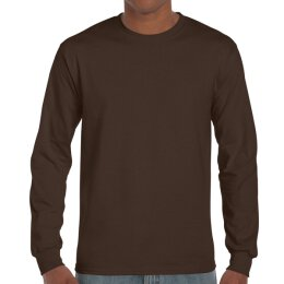 Gildan - 2400 Unisex Ultra Longsleeve - dark chocolate