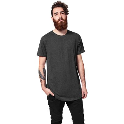 Urban Classics - TB638 - Shaped Long Tee - T-Shirt - charcoal
