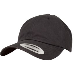 Flexfit - Peached Cotton Twill Dad Cap - black - one size