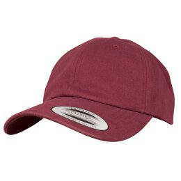 Flexfit - Peached Cotton Twill Dad Cap - maroon - one size