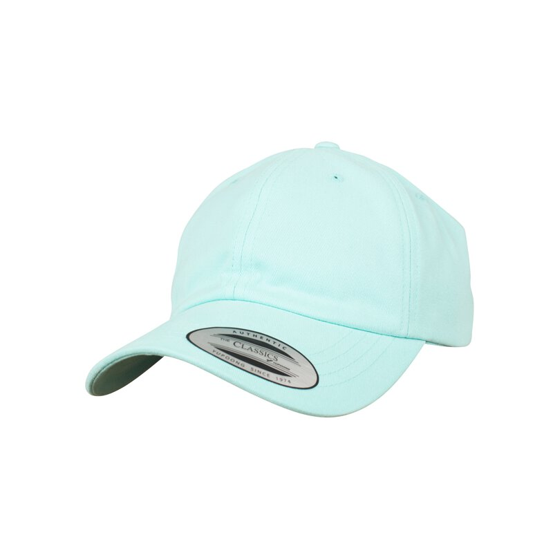 Flexfit - Peached Cotton Twill Dad Cap - diamand blue -...