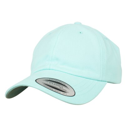 Flexfit - Peached Cotton Twill Dad Cap - diamand blue - one size