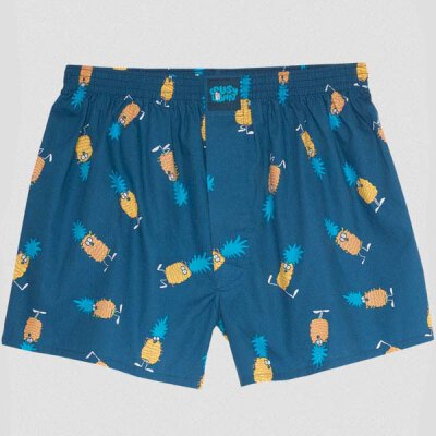 Lousy Livin - Ananas - Boxershorts - blue dive