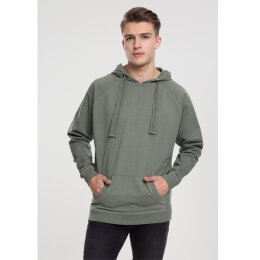 Urban Classics - TB1776 Garment Washed Terry Hoody - olive