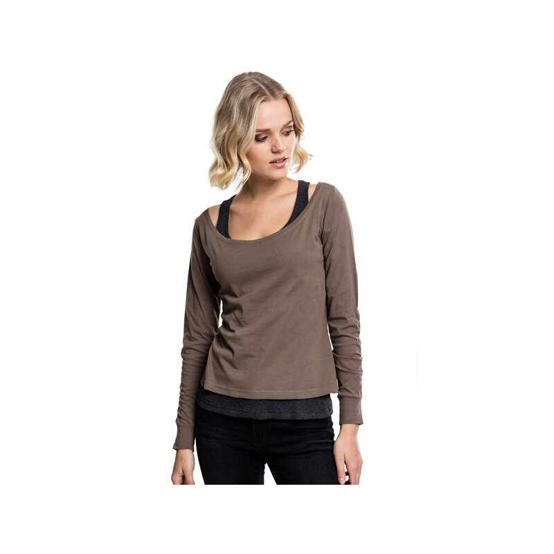 Urban Classics - TB1823 Ladies Two-Colored Longsleeve -...