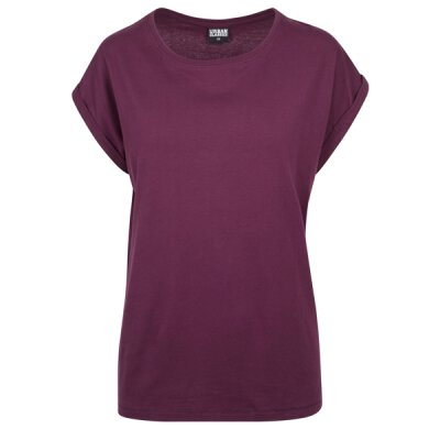 Urban Classics - TB771 - Ladies Extended Shoulder Tee - cherry