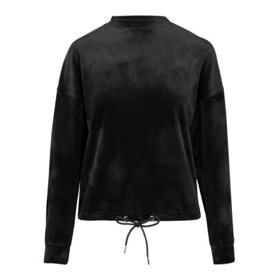 Urban Classics - TB1730 Ladies Oversized Velvet Crew - black