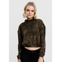 Urban Classics - TB1722 Ladies Camo Turtleneck Crew -...