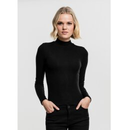 Urban Classics - TB1708 Ladies Turtleneck Longsleeve - black