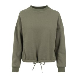 Urban Classics - TB1523 - Ladies Oversized Crew - olive