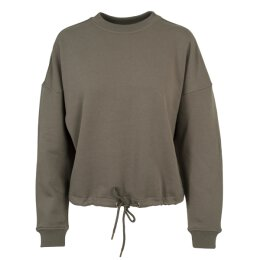 Urban Classics - TB1523 - Ladies Oversized Crew - army green