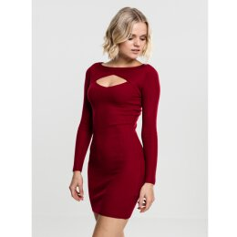 Urban Classics - TB1742 - Ladies Cut Out - Dress - burgundy