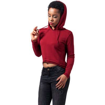Urban Classics - TB1305 - Ladies Cropped Terry Hoody - burgundy