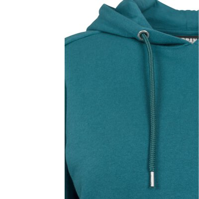 Urban Classics - TB1305 - Ladies Cropped Terry Hoody - teal