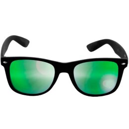 Sonnenbrille - Likoma - Mirror - black/green