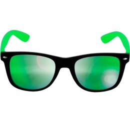 Sonnenbrille - Likoma - Mirror - black/lime green