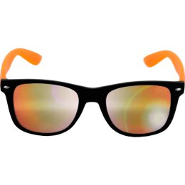 Sonnenbrille - Likoma - Mirror - black/orange/orange