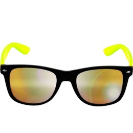 Sonnenbrille - Likoma - Mirror - black/yellow/yellow