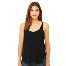 Bella + Canvas - 8802 Womens Flowy Side Slit Tank - black