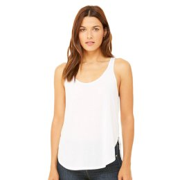 Bella + Canvas - 8802 Womens Flowy Side Slit Tank - white