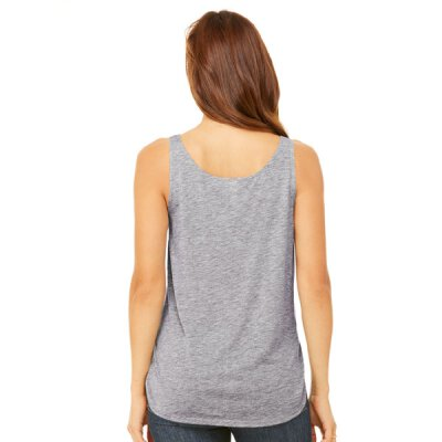 Bella + Canvas - 8802 Womens Flowy Side Slit Tank - athletic grey