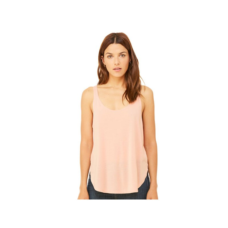 Bella + Canvas - 8802 Women\'s Flowy Side Slit Tank - peach