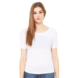 Bella + Canvas - 8871 Womens Flowy Open Back T-Shirt - white