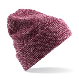Beechfield - B425 Heritage Beanie - heather burgundy