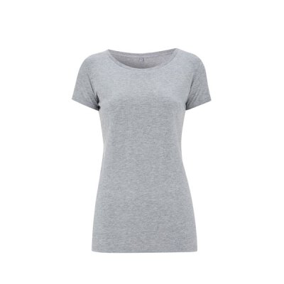 Continental - N09 Womens Regular Fit Round Neck T-Shirt - melange grey