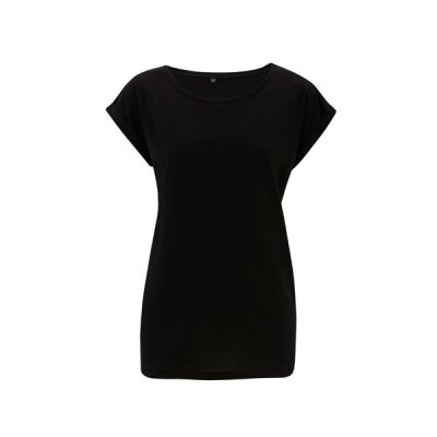 Continental - N20 Womens Rolled Sleeve Tunic T-Shirt - black