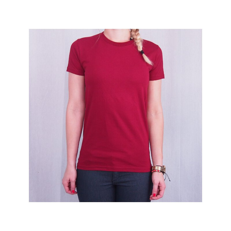American Apparel - 2102 - Girl Shirt - cranberry
