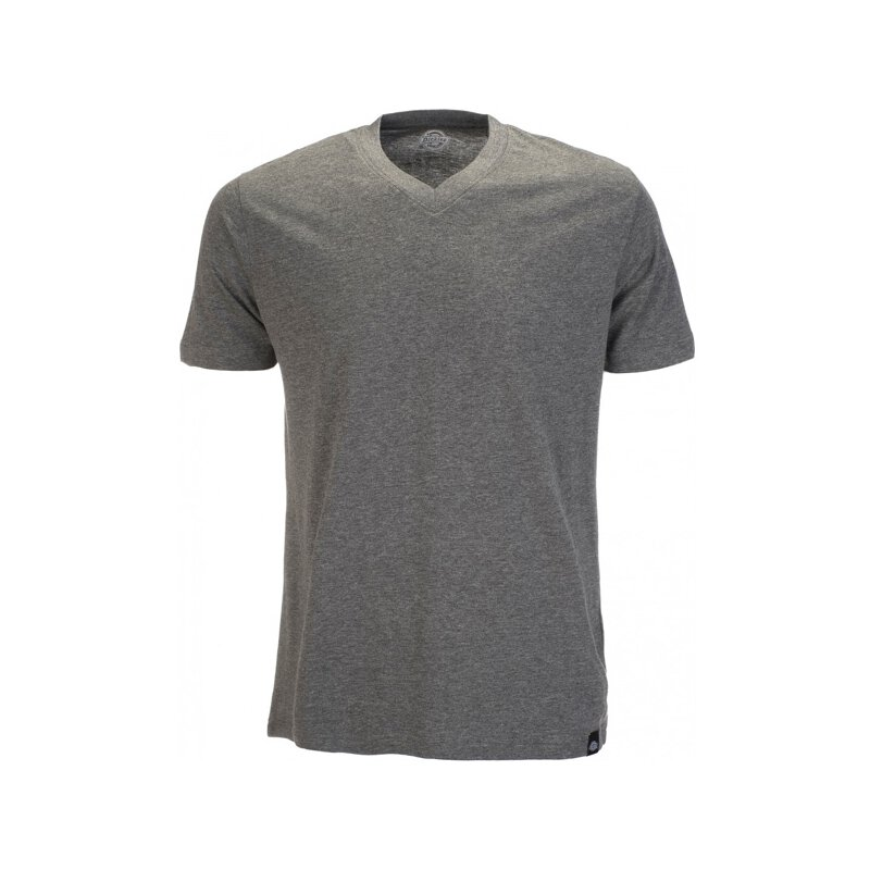 Dickies - Basic V-Neck T-Shirt - grey melange