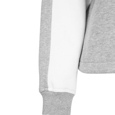 Urban Classics - TB1842 - Ladies Oversized 2-Tone Stripe Crew - grey/ white