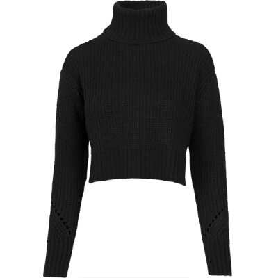 Urban Classics - TB1744 - Ladies HiLo Turtleneck Sweater - black