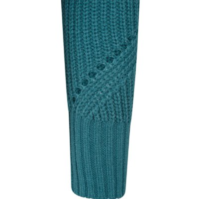 Urban Classics - TB1744 - Ladies HiLo Turtleneck Sweater - teal