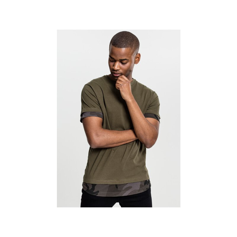 Urban Classics - TB1863 - Long Shaped Camo Inset Tee -...