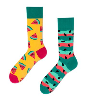 Many Mornings Socks - Watermelon Splash - Socken